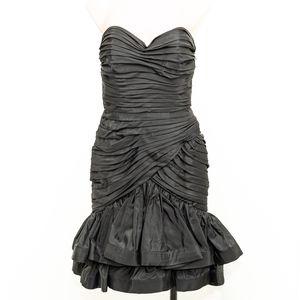 VTG 80s Tadashi Shoji Black Sweetheart Dress
